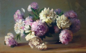 Peonies in a Bowl | Charles Ethan Porter | oil painting