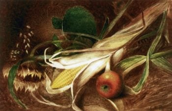 Still LIfe with Corn | Charles Ethan Porter | oil painting