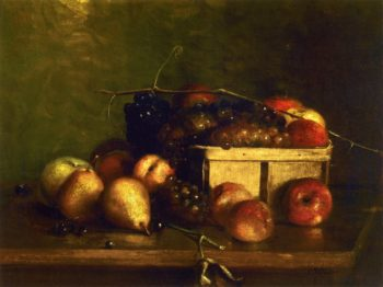 Still LIfe with Fruit and Basket | Charles Ethan Porter | oil painting