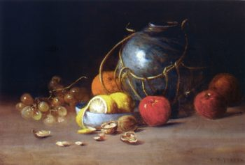 Still Life with Ginger Jar Fruit and Nuts | Charles Ethan Porter | oil painting