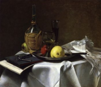 Still Life with Pears and Cask | Charles Ethan Porter | oil painting