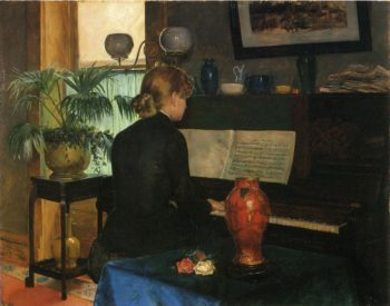 Moment Musicale | Charles Frederic Ulrich | oil painting