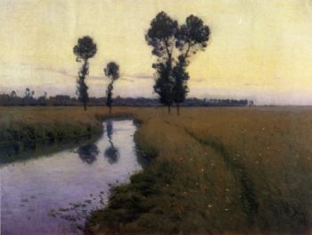 A Path along the River   Charles Harold Davis   oil painting