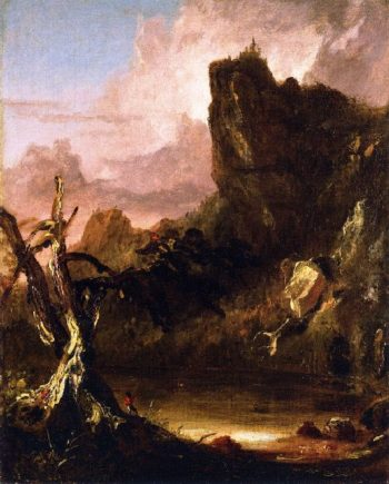 Imaginary Landscape with Towering Outcrop | Thomas Cole | oil painting