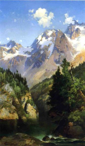 A Rocky Mountain Peak Idaho Territory | Thomas Moran | oil painting
