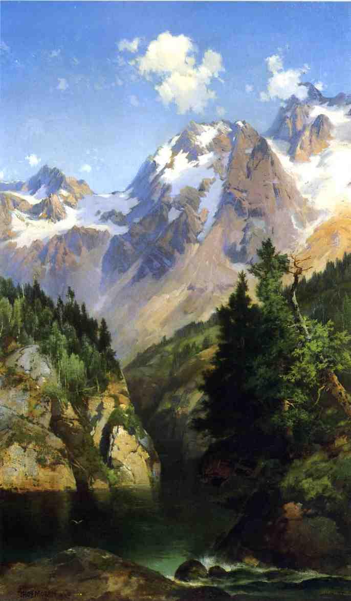 A Rocky Mountain Peak Idaho Territory | Thomas Moran | oil painting