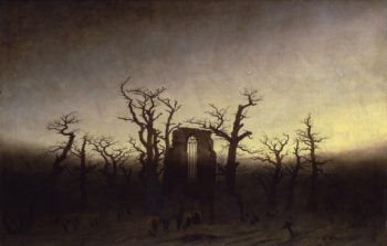 Abbey among Oak Trees | Caspar David Friedrich | oil painting