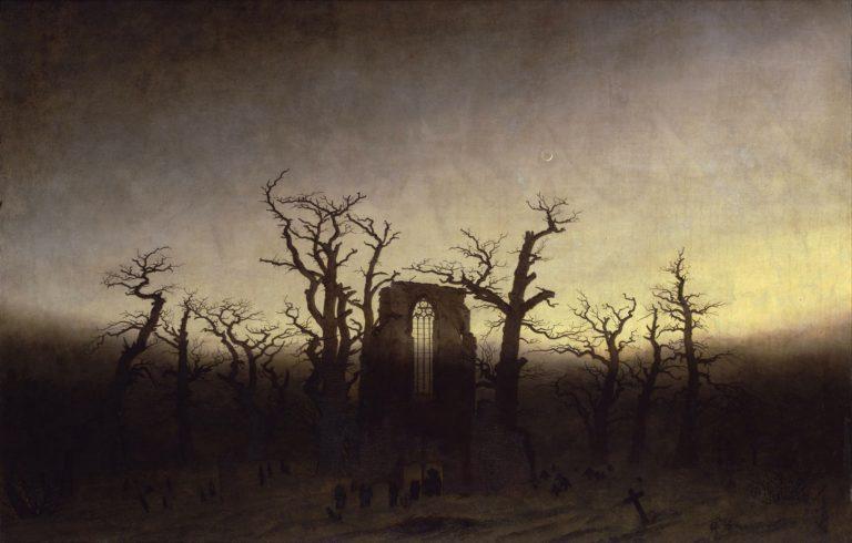 Abbey among Oak Trees | Caspar David Friedrich | oil painting