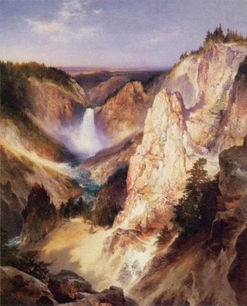Great Falls of Yellowstone   Thomas Moran   oil painting