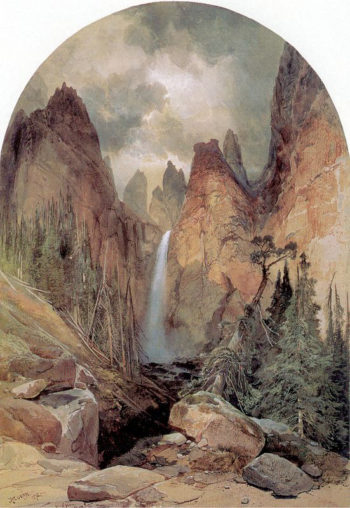 Tower Falls | Thomas Moran | oil painting