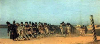 haulers 1866 | Vasily Vereshchagin | oil painting