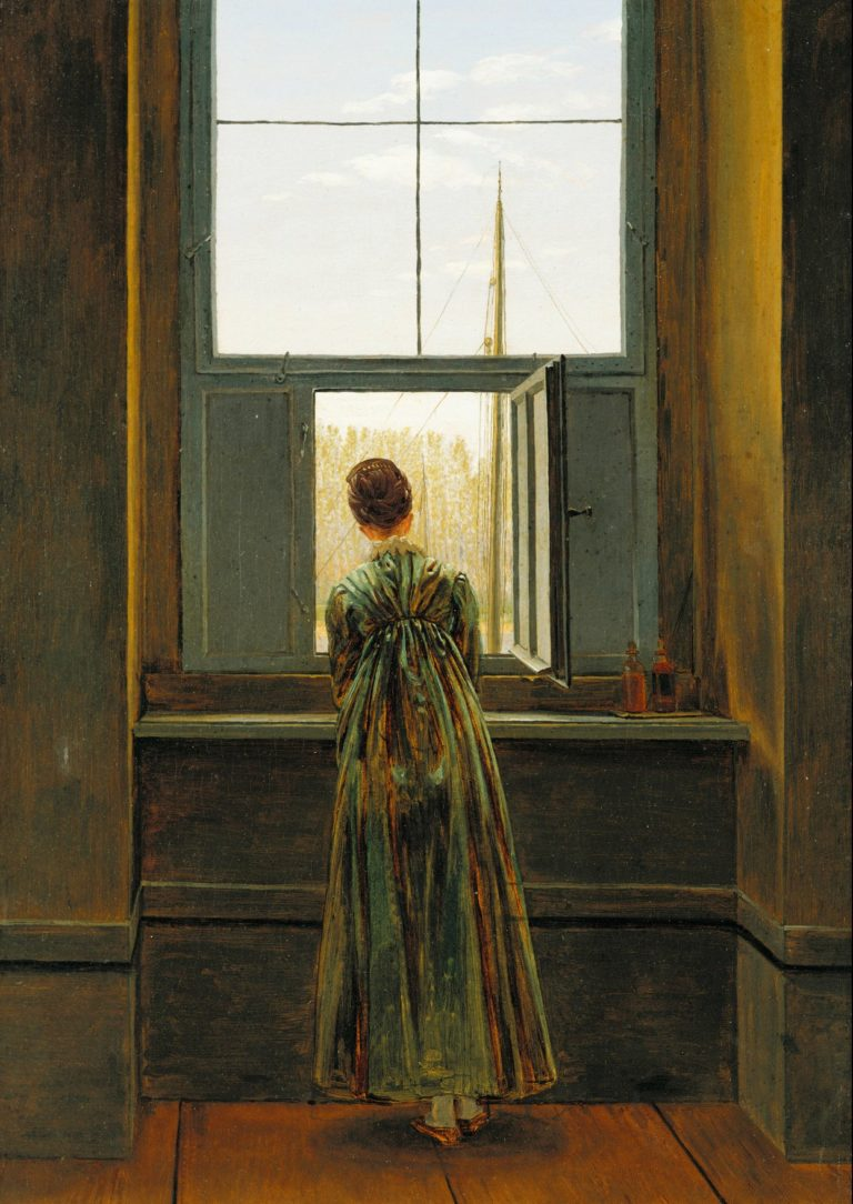 Woman at a Window | Caspar David Friedrich | oil painting