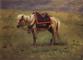 Himalayan ponies 1875 | Vasily Vereshchagin | oil painting