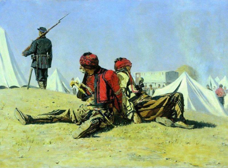 Two hawks Bashi Bazouke 1878 1879 | Vasily Vereshchagin | oil painting
