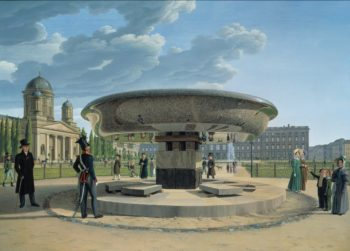 The Granite Dish in the Berlin Lustgarten | Erdmann Hummel | oil painting