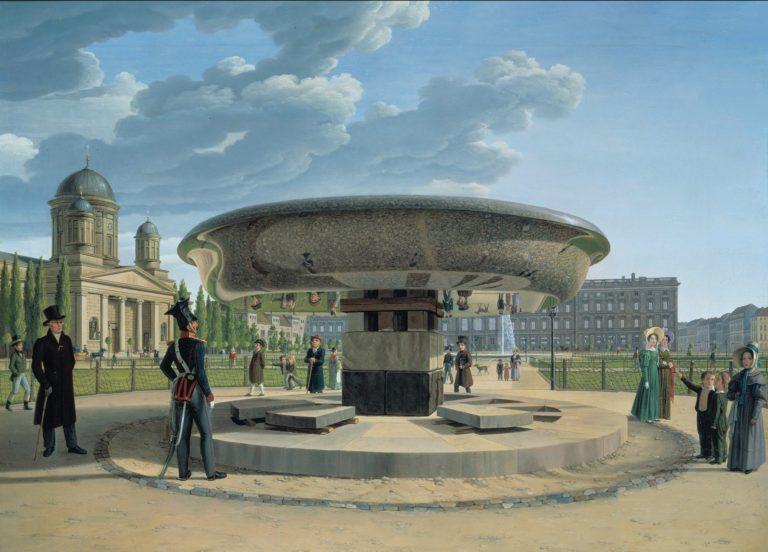 The Granite Dish in the Berlin Lustgarten | Erdmann Hummel | oil painting