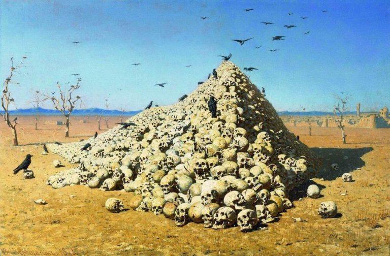 Apotheosis of War 1871 | Vasily Vereshchagin | oil painting