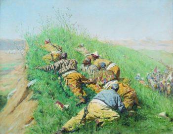 spy out 1873 | Vasily Vereshchagin | oil painting