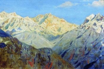 Himalayas Main peak 1875 | Vasily Vereshchagin | oil painting