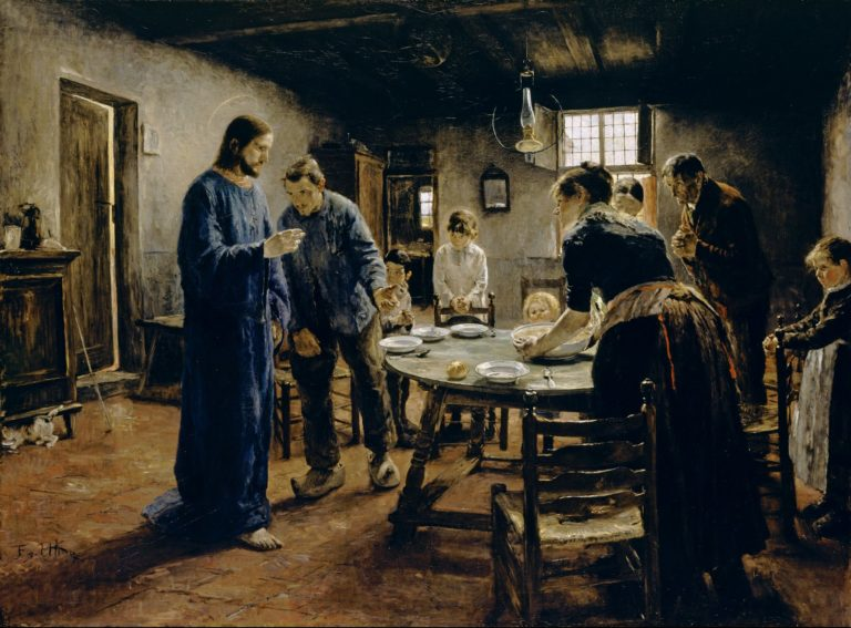 The Mealtime Prayer | Fritz von Uhde | oil painting