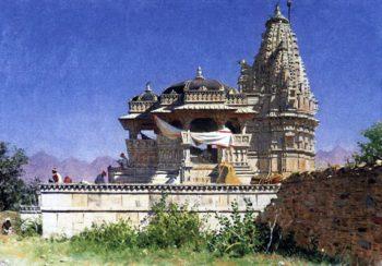 Brahmin temple in Adelnure 1874 1876 | Vasily Vereshchagin | oil painting
