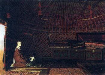 Inside the yurt rich Kirghiz 1869 1870 | Vasily Vereshchagin | oil painting