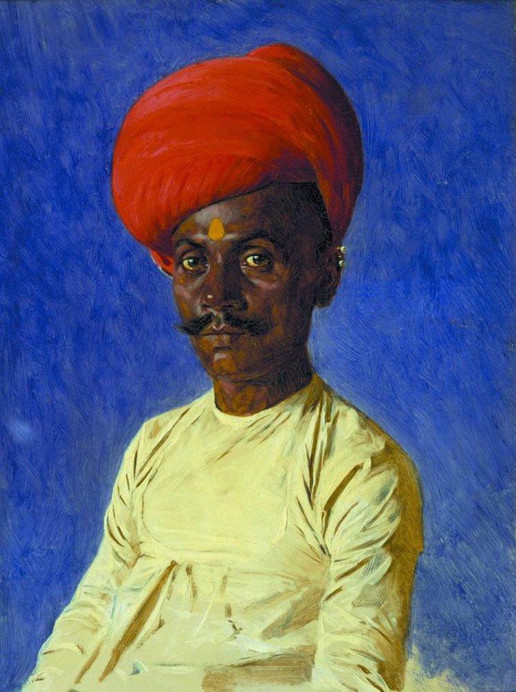Bania trader Bombay 1874 1876 | Vasily Vereshchagin | oil painting