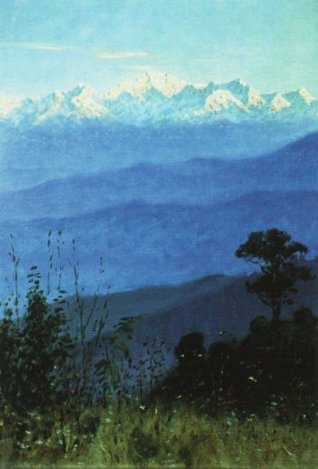 Himalayas in the evening 1875 | Vasily Vereshchagin | oil painting