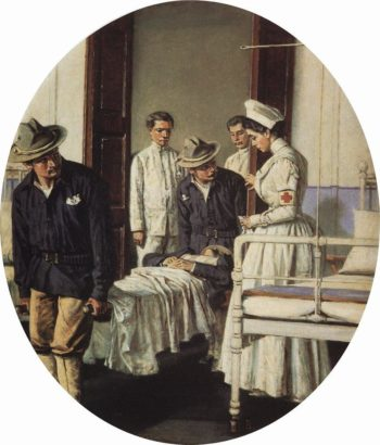 In the hospital 1901 | Vasily Vereshchagin | oil painting