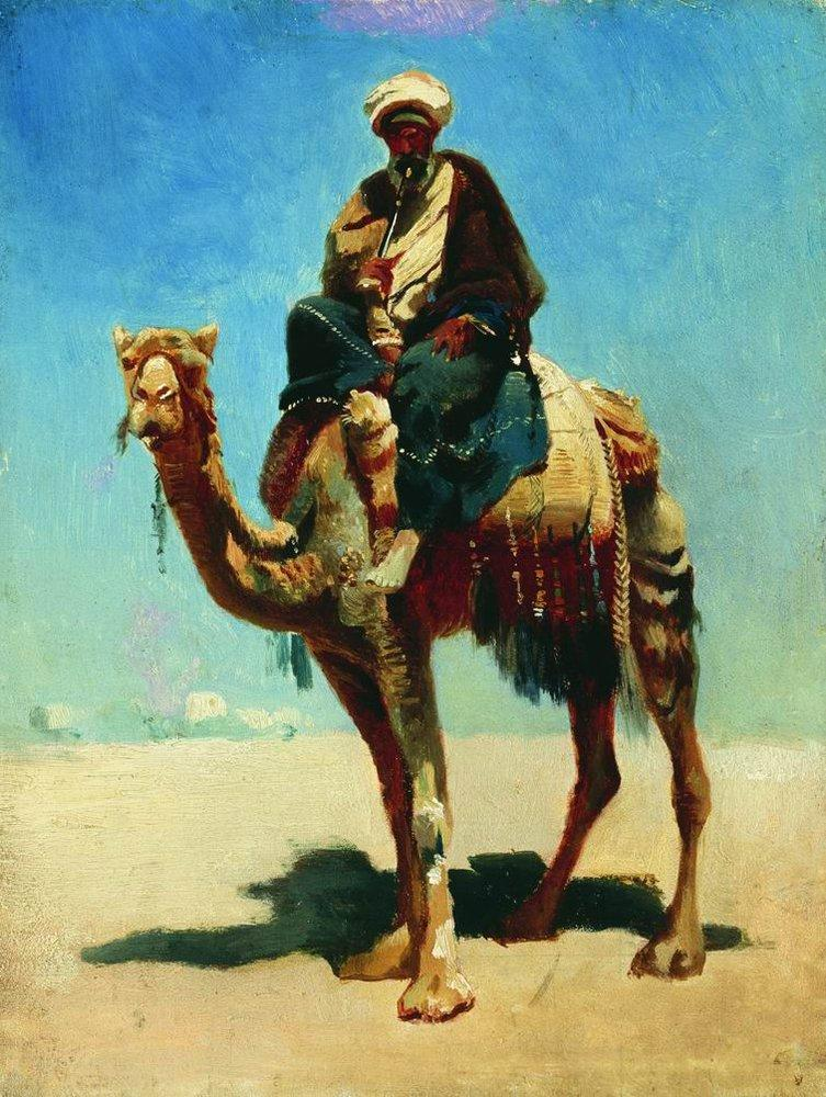 Arab on a camel 1869 1870 | Vasily Vereshchagin | oil painting