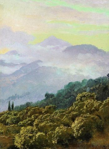 Type Crimean mountains | Vasily Vereshchagin | oil painting