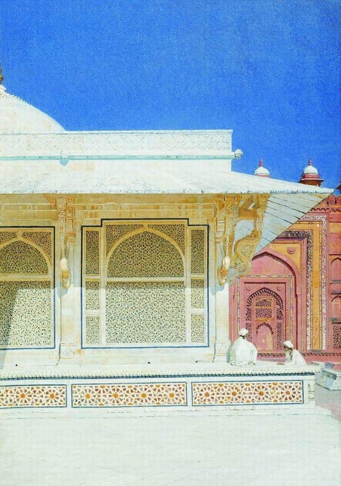 Tomb of Sheikh Salim Chishti in Fatehpur Sikri 1874 1876 | Vasily Vereshchagin | oil painting