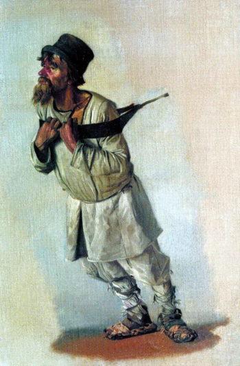 Burlak who hold hands on the strap 1866 | Vasily Vereshchagin | oil painting