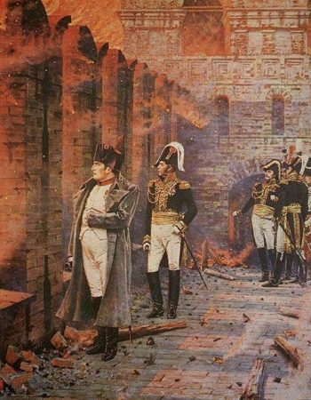 In the Kremlin fire 1887 1898 | Vasily Vereshchagin | oil painting