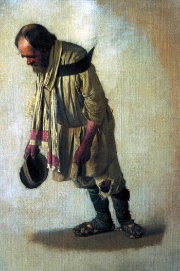 Burlak cap in hand 1866 | Vasily Vereshchagin | oil painting