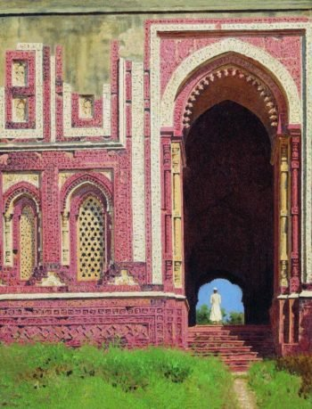 Gates near the Qutub Minar Old Delhi 1875 | Vasily Vereshchagin | oil painting