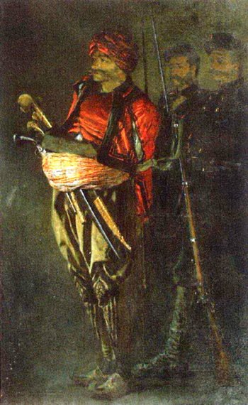 Bashi Bazouk Albanian 1877 1878 | Vasily Vereshchagin | oil painting