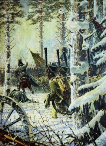 In the bayonets Ur Ur Attack 1887 1895 | Vasily Vereshchagin | oil painting