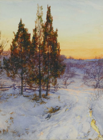 Cedars at Twilight   Walter Launt Palmer   oil painting