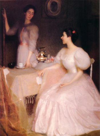 Mollie Scott and Dorothy Tay | William MacGregor Paxton | oil painting
