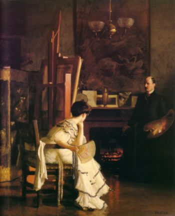 In The Studio | William MacGregor Paxton | oil painting