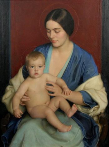 A Modern Madonna | William MacGregor Paxton | oil painting