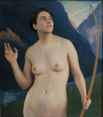 Diana Of The Peaks | William MacGregor Paxton | oil painting