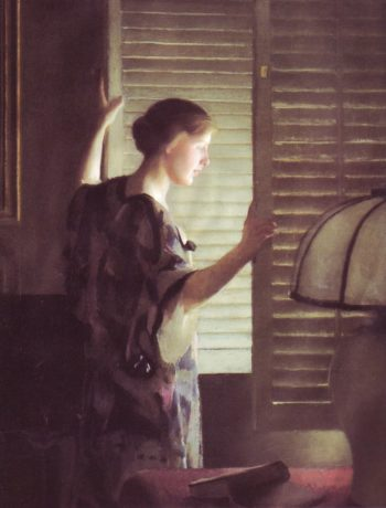 Morning Light | William MacGregor Paxton | oil painting