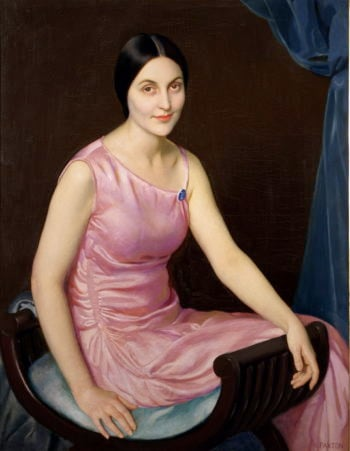 Elsa in the Pink Dress | William MacGregor Paxton | oil painting