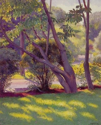 Lawn at Newton | William MacGregor Paxton | oil painting