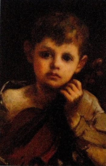 Boy with a Violin | William Morris Hunt | oil painting