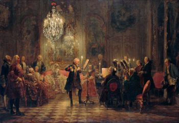 Flute Concert with Frederick the Great in Sanssouci | Adolph Menzel | oil painting