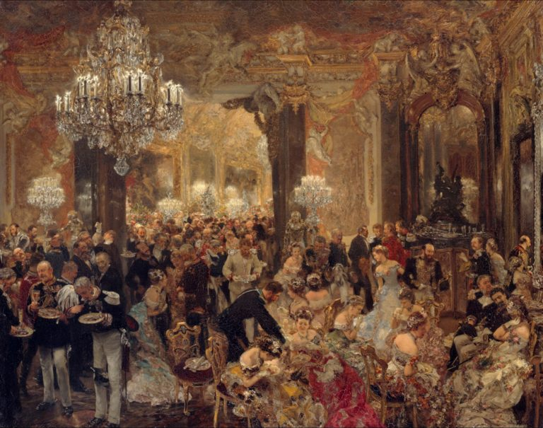 The Dinner at the Ball | Adolph Menzel | oil painting