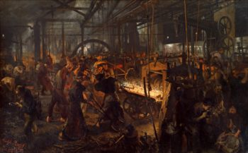 The Iron Rolling Mill | Adolph Menzel | oil painting